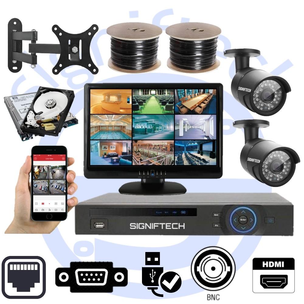 CCTV CAMERAS KIT WITH 1080P 4 CHANNELS DVR & 2 CCTV CAMERAS