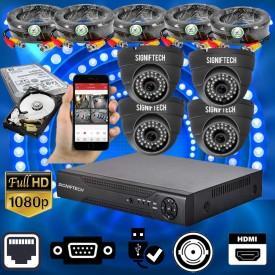 CCTV CAMERAS KIT WITH 1080P 4 CHANNELS DVR & 4 CCTV CAMERAS