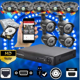 4 CCTV CAMERAS 960 HD WITH 4 CHANNEL DVR &  WITH ONLIONE SOFTWARE