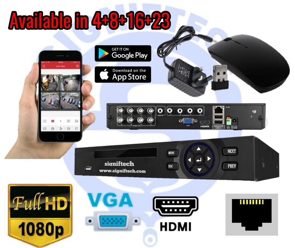 CCTV HD 1080P 8 CHANNEL DVR HDMI