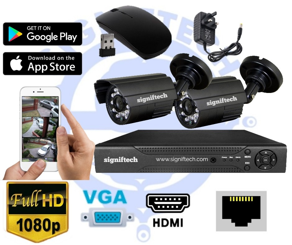 4  channel  Dvr with 2 cctv cameras              Item  code :1053