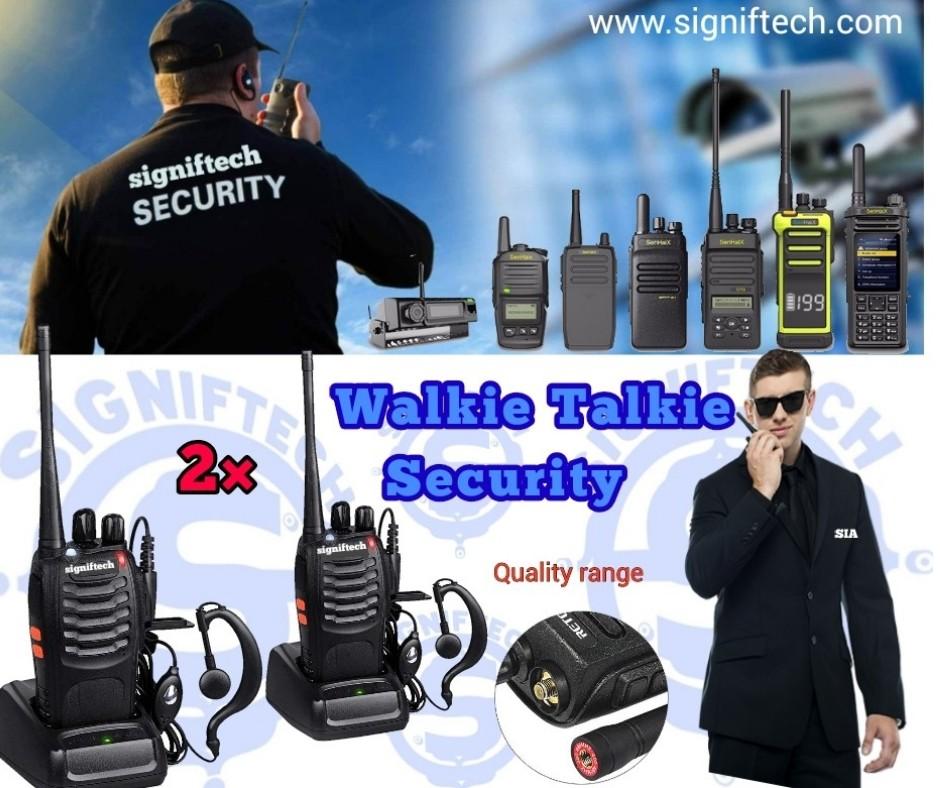 Walkie Talkie signiftech mhz 2xpcs  2-Way Radio  Long Range item:code. 1147